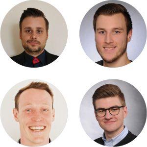 Oliver Heinemann, Nils Intraschak, Michel Salzer und Christoph Simon